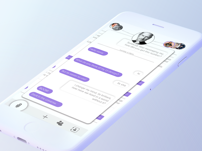 Multi Chat Ui by Jaysen Henderson on Dribbble