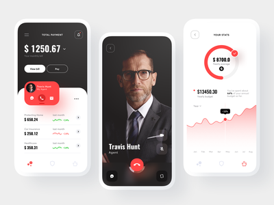 Insurance app user experience user interface concept flat product ios application design clean ui design agent payment stats insurance app application mobile app mobile design uiux ux ui