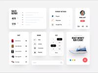 eCommerce app UI Components payments report ui ux ecommerce shoes ui cards components micro interaction interaction motion mobile app web app clean ui uiuxdesign graphic application app uiux component