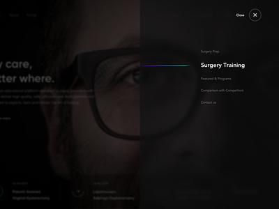 The Surgery Studio - Web platform doctor graphic presentation web deisgn web site dark ui web platform online class landing page product design healthcare surgery ui design web design ux ui