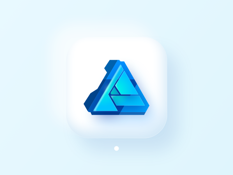 Affinity Designer (Big Sur Icon) icon product fluent glass branding soft design 3d bigsur interface macos affinity designer ui illustration ios14 skeuomorph neumorph apple logo