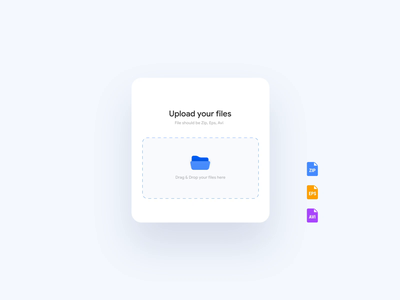 File Uploader (Drag & Drop) application micro interaction upload file loading dashboard ui card clean ui minimal design components component ux ui upload motion interaction files drag and drop cards animation