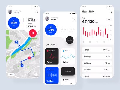 Health Tracking App inspiration health app design ios minimal clean ui animation micro interaction interaction motion application app mobile app ui ux