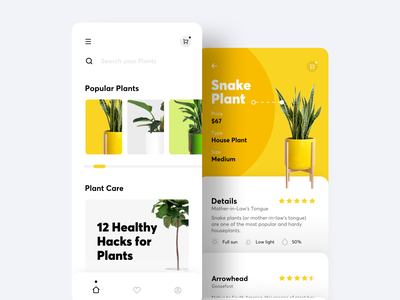 Plants app application ui indoor plant application app design uidesign uxui ux design user interface plants plant app