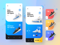 eCommerce app for New Balance UI concept