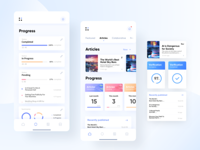 PR agency platform UI