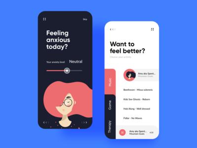Anxious Control app UI