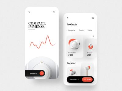 Speaker eCommerce app UI