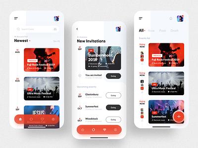 VIP Event app (login & individual screen) uxui design location application design application ui ui ux user interface design vip mobile app events app event application app