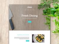 Palate restaurant food website builder cms template theme