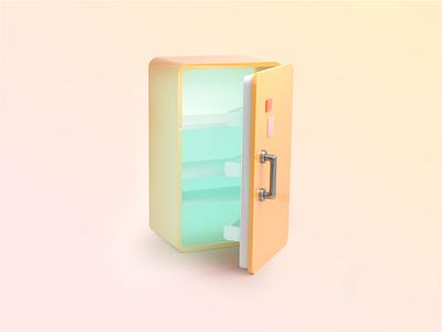 Fridge 3D icon 3dicon icon fridge mexico branding 3d illustration