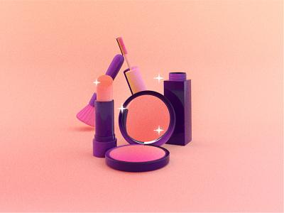 3D Makeup makeup artist makeup 3d illustration