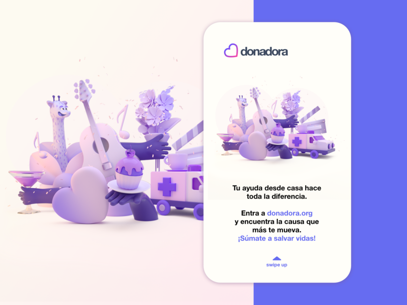 Covid19 Crowdfunding campaign crowdfunding music flowers restaurant love zoo ux branding 3d illustration