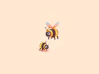 Queen Bee characterdesign queen abeja 3dillustration logo mexico branding 3d illustration