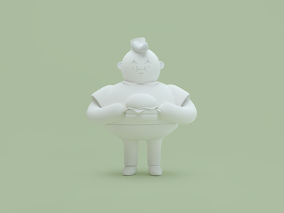 Chubbies 3D character burger characterdesign cinema4d branding 3d illustration