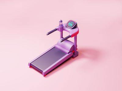 Threadmill Illustration runner threadmill coronarenderer render gym workout running fitnessapp fitness 3d illustration