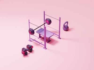 Weight lifting set illustration