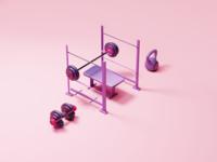 Weight lifting set illustration