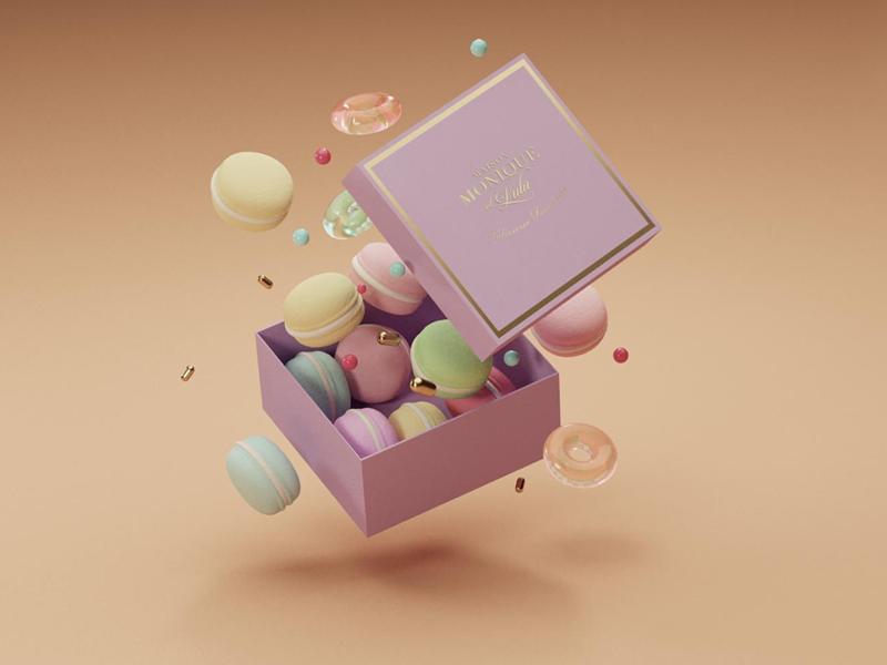 Monique et Lulú pastel foodie paris illustration box macaron