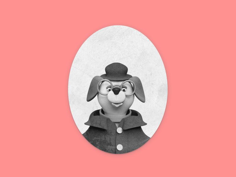 Dog characterdesign dog illustration