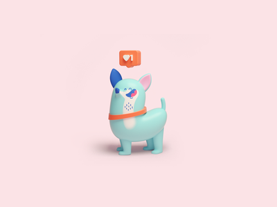 Insta dog illustration dog puppy characterdesign character
