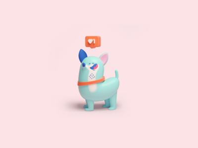 Insta dog illustration dog puppy characterdesign character