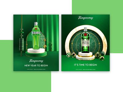 Holiday compositions for Tanqueray Mexico set design interior design booze christmas mexico illustration
