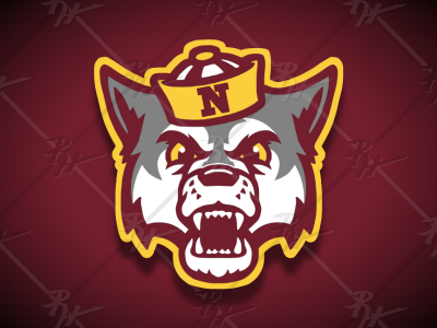 Vintage Style Wolf Mascot 2 northern state high school vintage classic college logo ncaa mascot athletics sports
