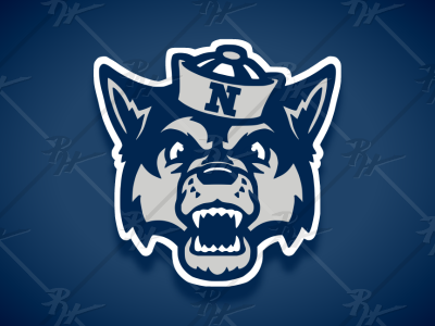 Vintage Style Nevada Wolf Pack Mascot wolf pack nevada vintage classic college basketball ncaa football mascot sports