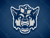 Vintage Style Nevada Wolf Pack Mascot