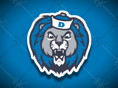 Vintage Style Detroit Lions Mascot detroit high school vintage classic football mascot athletics sports