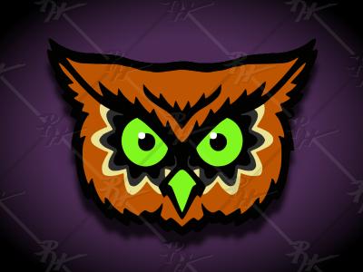 Halloween Owl halloween owl retro vintage