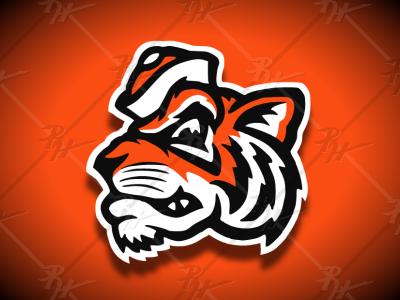 Vintage Style Tiger Mascot high school basketball college ncaa classic vintage football mascot athletics sports