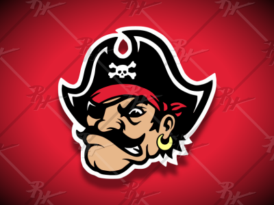Vintage Style Pirate Mascot pirate privateer buccaneer antique college ncaa classic vintage football mascot athletics sports