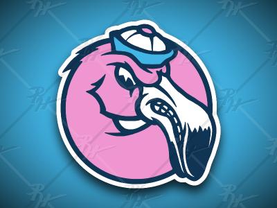 Vintage Style FMFC Flamingo Mascot madison wisconsin wi forward madison fc flamingo soccer antique classic vintage mascot athletics sports