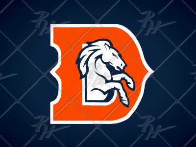 Denver Broncos Update Concept Dark Blue/Orange