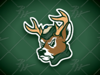 Vintage Style White-tailed Buck Mascot