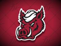 Vintage Style Razorback Hog