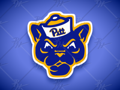 Vintage Style Pitt Panthers Mascot (Classic Colors)