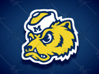 Vintage Style Wolverines Mascot
