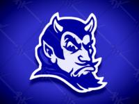 Vintage Style Duke Blue Devil Mascot