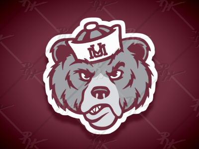 Vintage Style Montana Grizzlies Mascot (More Grizzle) bruins bruin bears bear grizz monty design high school antique classic vintage logo college ncaa basketball football mascot athletics sports