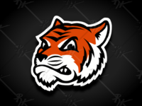 Vintage Style Tigers Mascot