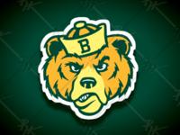 Vintage Style Baylor Bear Mascot