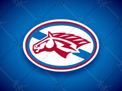 Horse Head Logo stallions racers broncs mustangs broncos chargers pistons detroit high school logo college ncaa basketball football mascot athletics sports