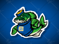 Vintage SD Walleye Mascot