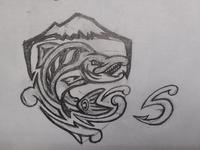 Seattle Sockeyes Concept Sketch - Shield / S