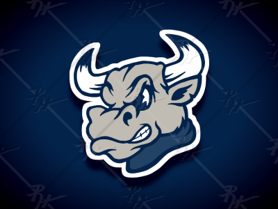 Vintage Style Bull Mascot