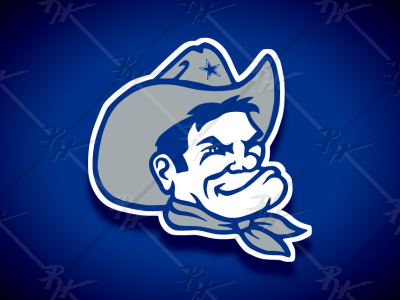Vintage Style Dallas Cowboys Mascot Royal dallas nfl classic vintage college logo football mascot athletics sports