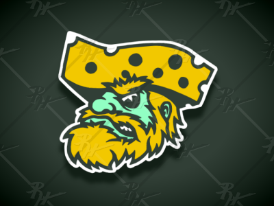 Vintage Style Green Bay Packers Mascot
